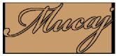Mucaj verkoop styling logo
